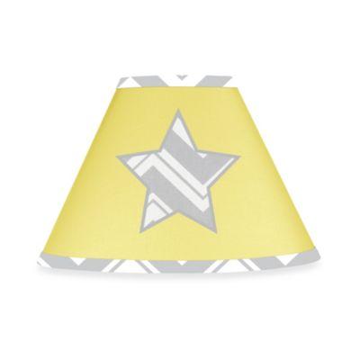 High Quality Sweet Jojo Designs Zig Zag Chevron Lamp Shade In Grey/Yellow
