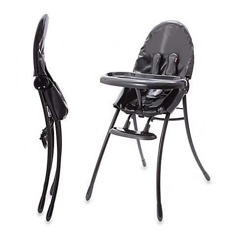 Bloom nano urban high chair in matte black snakeskin for Chaise haute babymoov slim