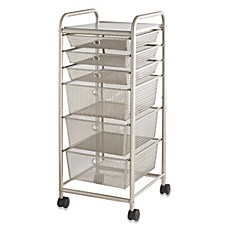 6drawer rolling metal cart