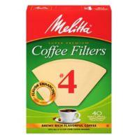 Melitta® 40-Count Number 4 Natural Brown Super Premium Coffee Filters
