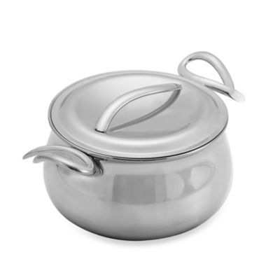 nambe gourmet 3quart sauce pan with lid