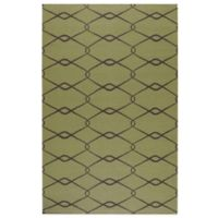 Surya Albin 5-Foot x 8-Foot Rug in Lime Green/Chocolate