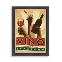 Americanflat Vino Italiano Framed Wall Art