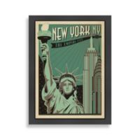 Americanflat New York Empire City Framed Wall Poster