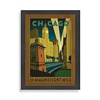 Americanflat Chicago Magnificent Mile Framed Wall Art