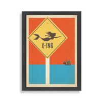 Americanflat Coastal Collection Mermaid Crossing Framed Wall Art