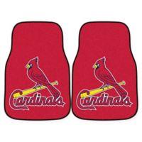 MLB St. Louis Carpet Cardinals Carpet Car Mat (Set of 2)