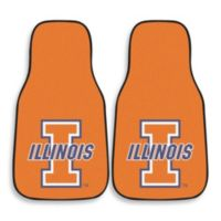 University of Illinois Carpeted Car Mats (Set of 2)