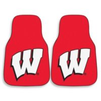 University of Wisconsin Carpeted Car Mats (Set of 2)