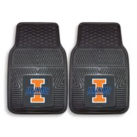 University of Illinois Vinyl Car Mat (Set of 2)