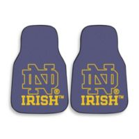 Notre Dame Carpeted Car Mats (Set of 2)