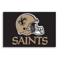 NFL New Orleans Saints Helmet 20-Inch x 30-Inch Floor Mat