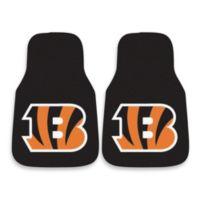 NFL Cincinnati Bengals Carpeted Car Mats (Set of 2)