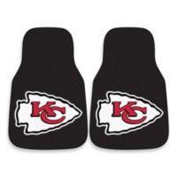 NFL Kansas City Chiefs Carpeted Car Mats (Set of 2)