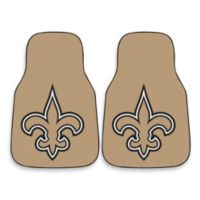 NFL New Orleans Saints Carpeted Car Mats (Set of 2)