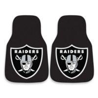 NFL Oakland Raiders Carpet Car Mat (Set of 2)