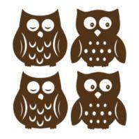 WallPops!® Owl Espresso Silhouettes Wall Art