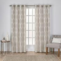 Montrose 108-Inch Grommet Window Curtain Panel Pair in Linen