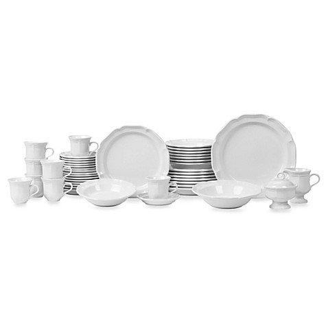 Mikasa® French Countryside 45-Piece Dinnerware Set  sc 1 st  Bed Bath u0026 Beyond : 45 pc dinnerware set - Pezcame.Com