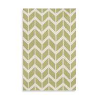 Surya Anton ZigZag Rug 5-Foot x 8-Foot in Lime