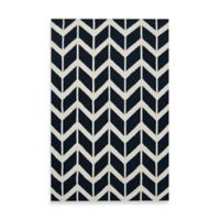 Surya Anton ZigZag Rug 8-Foot x 11-Foot in Federal Blue