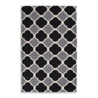 Surya Abrantes 5-Foot x 8-Foot Rug in Grey/White/Black