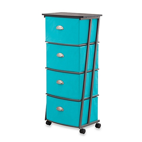 High Quality Studio 3B™ 4 Drawer Storage Cart Tall In Peacock