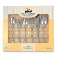Ginkgo Panda-Babies™ 6-Piece Baby to Child Progress Tableware Set