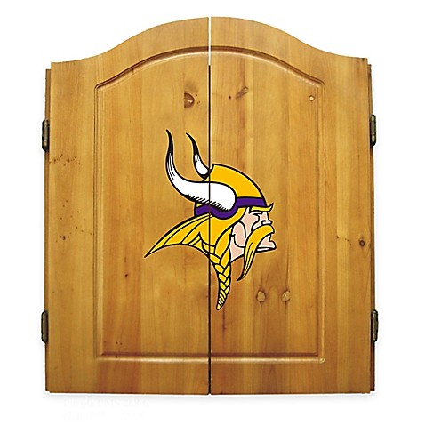 nfl minnesota vikings complete dart cabinet set bed bath With kitchen cabinets lowes with minnesota vikings wall art