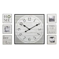 FirsTime® 7-Piece Shiplap Wall Clock Gallery in White