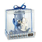 Mud Pie® Bear Piggy Bank in Blue