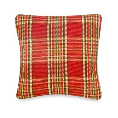 Glenna Jean Carson Square Plaid Throw Pillow