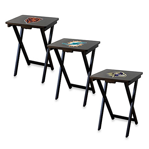 Nfl Tv Tray With Stand Set Of 4 Bed Bath Amp Beyond