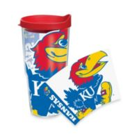 Tervis® University of Kansas Jayhawks 24-Ounce Wrap Tumbler with Red Lid