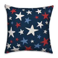 Red White and Blue Stars 18x18 Throw Pillow