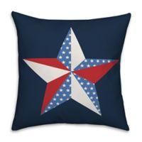 Patriotic Star 18x18 Throw Pillow