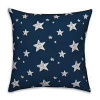Sketched Stars 18x18 Throw Pillow
