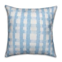 Blue and White Plaid 18x18 Throw Pillow