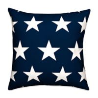 Blue and White Stars 18x18 Throw Pillow