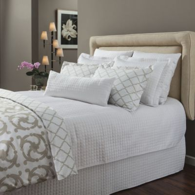 Downtown Company Urban Quilted Cotton Standard Pillow Sham in White