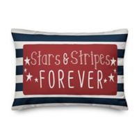 Stars and Stripes Forever 14x20 Throw Pillow