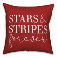 """Designs Direct """"Stars and Stripes"""" Throw Pillow in Red/White"""