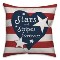 """Designs Direct """"Stars and Stripes Forever"""" Flag Throw Pillow in Red/White"""