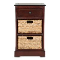 Safavieh Carrie Side Storage Table in Cherry