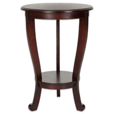 Safavieh Mary Pedestal Side Table In Cherry