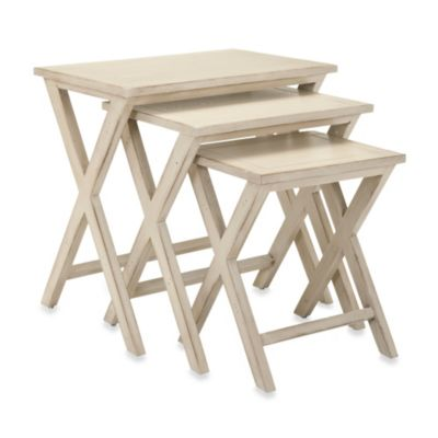 Safavieh Maryann Stacking Tray Tables  sc 1 st  Bed Bath \u0026 Beyond : set of tray tables - pezcame.com