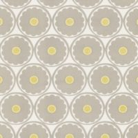 Echo Design™ Retro Floral Wallpaper Sample in Grey