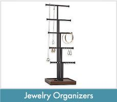 Jewelry Boxes Organizers Metal Stand Trays Bed Bath Beyond