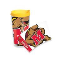 Tervis® University of Maryland Terrapins 16-Ounce Wrap Tumbler with Yellow Lid
