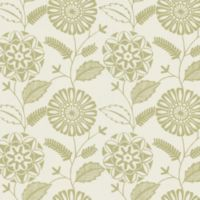 Echo Design™ Modern Floral Print Wallpaper Sample in Beige